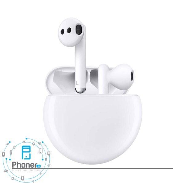 رنگ سفید هندزفری بلوتوثی Huawei Freebuds 3