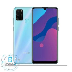 رنگ آبی گوشی موبایل Huawei MOA-LX9N Honor 9A