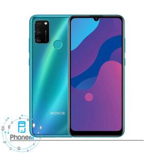 رنگ سبز گوشی موبایل Huawei MOA-LX9N Honor 9A