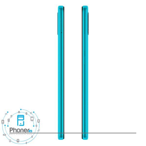 نمای کناری گوشی موبایل Xiaomi Redmi 9A رنگ سبز