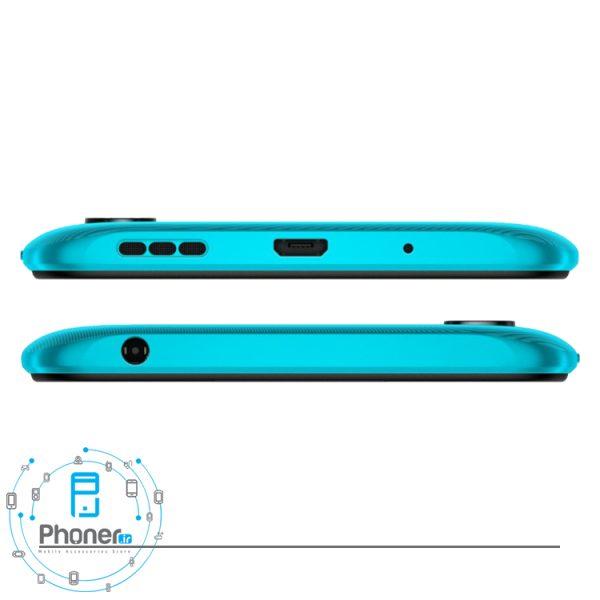 نمای بالا و پایین گوشی موبایل Xiaomi Redmi 9A رنگ سبز