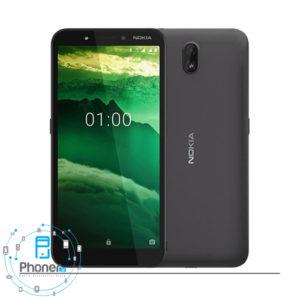 رنگ مشکی گوشی موبایل TA-1165 Nokia C1 2019