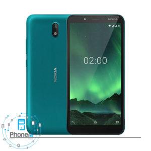 رنگ آبی گوشی موبایل TA-1204 Nokia C2 2020