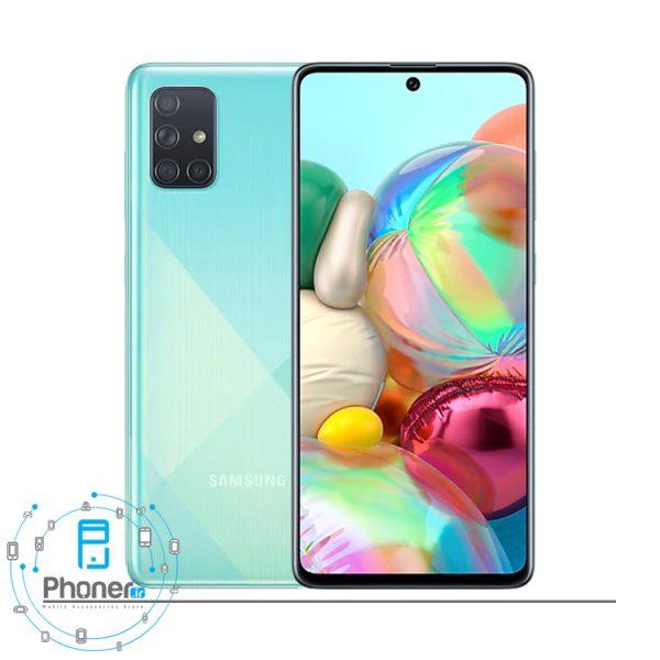 رنگ آبی گوشی موبایل Samsung SM-A715F/DS Galaxy A71