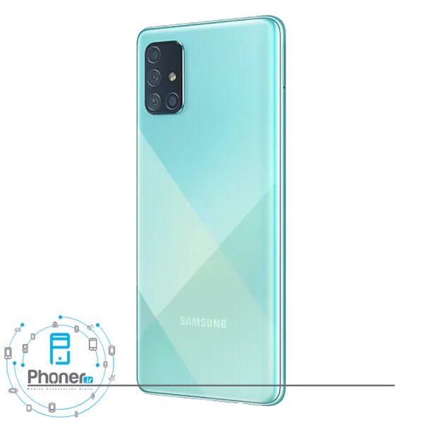 نمای کناری گوشی موبایل Samsung SM-A715F/DS Galaxy A71 رنگ آبی