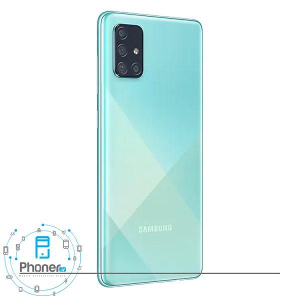 نمای کناری قاب پشتی گوشی موبایل Samsung SM-A715F/DS Galaxy A71 رنگ آبی