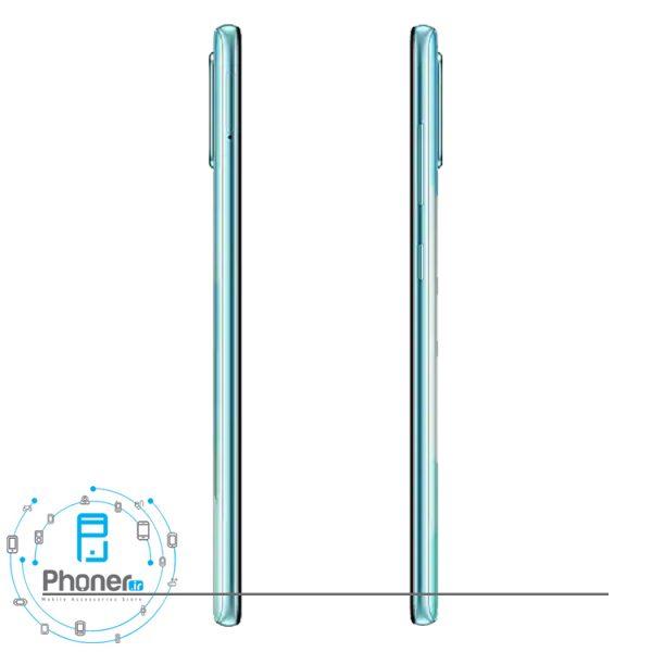 نمای کناری قاب پشتی گوشی موبایل Samsung SM-A715F/DS Galaxy A71
