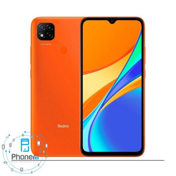 رنگ نارنجی گوشی موبایل Xiaomi Redmi 9C