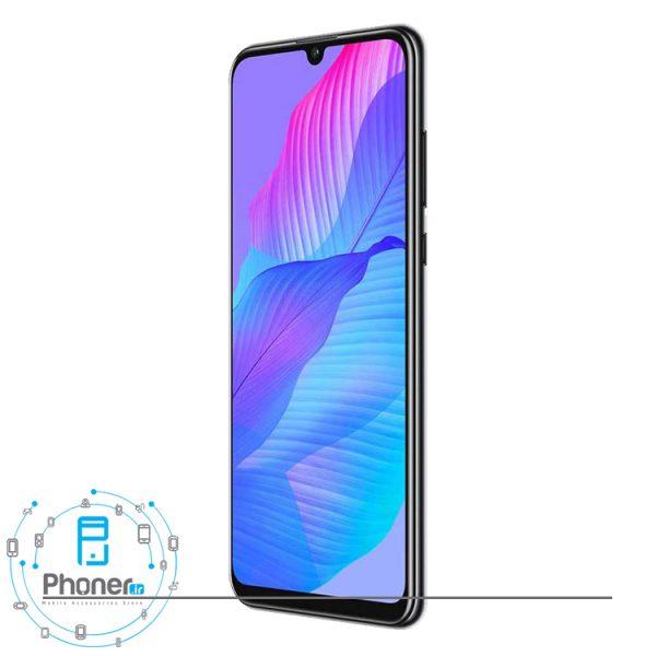 نمای کناری گوشی موبایل Huawei AQM-LX1 Y8p رنگ سفید