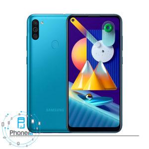 رنگ آبی گوشی موبایل Samsung SM-M115F/DS Galaxy M11