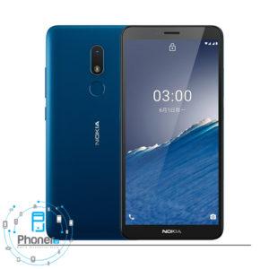 رنگ آبی گوشی موبایل Nokia TA-1292 C3 2020