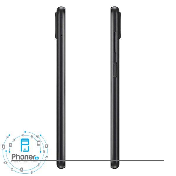 نمای کناری گوشی موبایل Samsung SM-A125 Galaxy A12 رنگ مشکی
