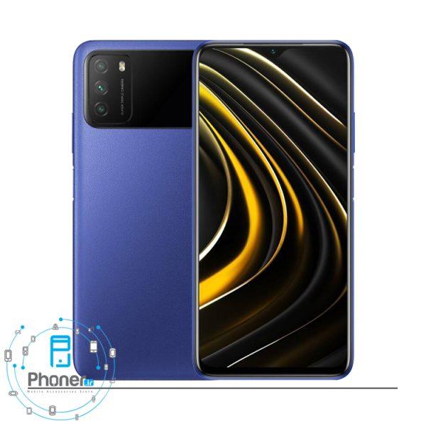 رنگ آبی گوشی موبایل Xiaomi Poco M3
