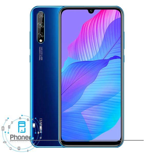 رنگ آبی گوشی موبایل Huawei AQM-LX1 Y8p