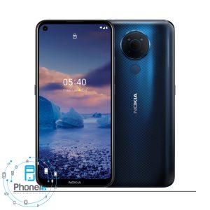 رنگ آبی گوشی موبایل TA-1325 Nokia 5.4