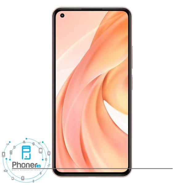 صفحه نمایش گوشی موبایل Xiaomi Mi 11 Lite در رنگ صورتی