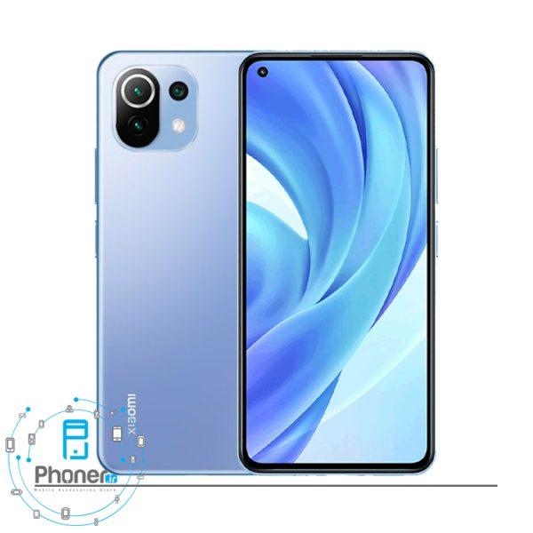 رنگ آبی گوشی موبایل Xiaomi Mi 11 Lite
