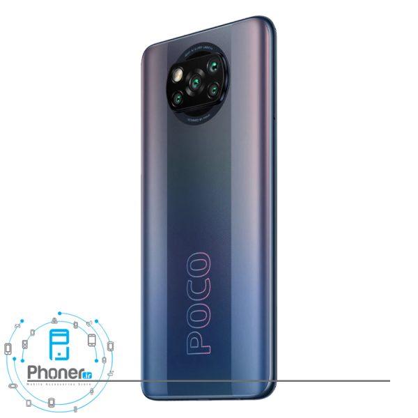 نمای کناری قاب پشتی گوشی موبایل Xiaomi Poco X3 Pro در رنگ مشکی