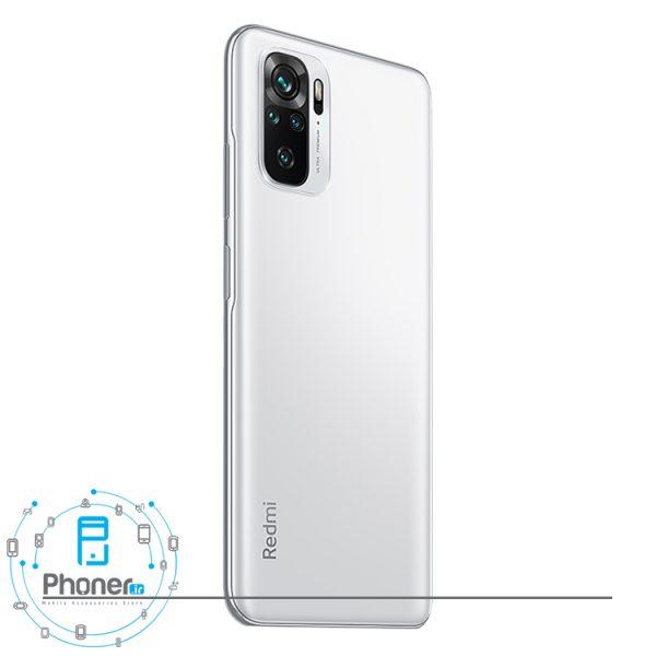 نمای کناری قاب پشتی گوشی موبایل Xiaomi Redmi Note 10 رنگ سفید