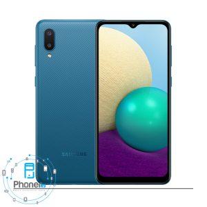 رنگ آبی گوشی موبایل Samsung SM-A022F/DS Galaxy A02