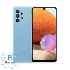 رنگ آبی گوشی موبایل Samsung SM-A325F Galaxy A32