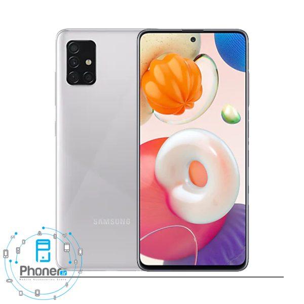 رنگ نقره ای گوشی موبایل Samsung Galaxy A51