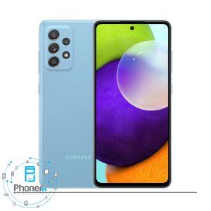 رنگ آبی گوشی موبایل Samsung SM-A525F/DS Galaxy A52