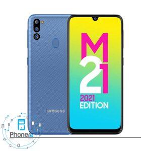 رنگ آبی گوشی موبایل Samsung SM-M215G Galaxy M21 2021